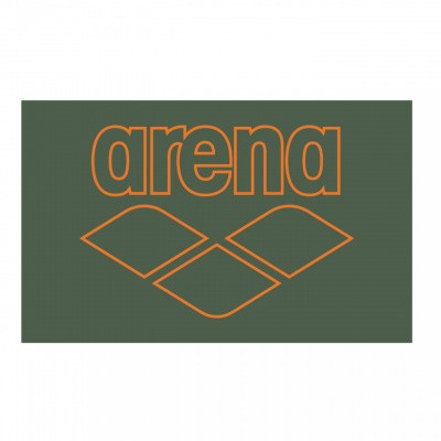 Foto van Arena Pool Smart Towel army-tangerine