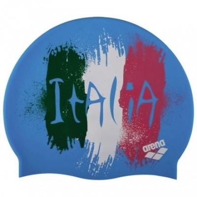 Foto van Arena Siliconen badmuts Print 2 Flag Italy