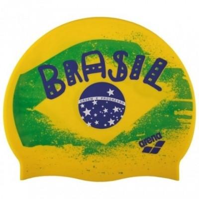 Foto van Arena Siliconen badmuts Print 2 Flag Brasil