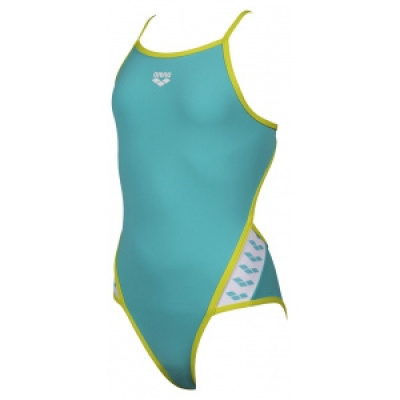 Foto van Arena meisjes badpak Team Stripe Jr Super Fly Back mint-green