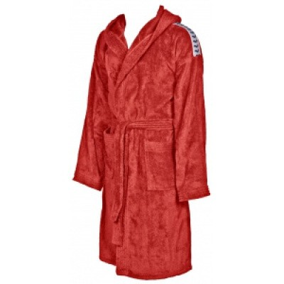 Foto van Arena badjas Core soft robe red-white