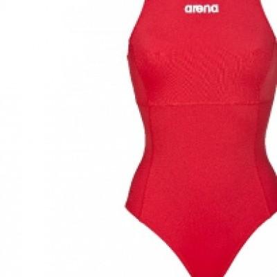 Foto van Arena waterpolobadpak Solid red