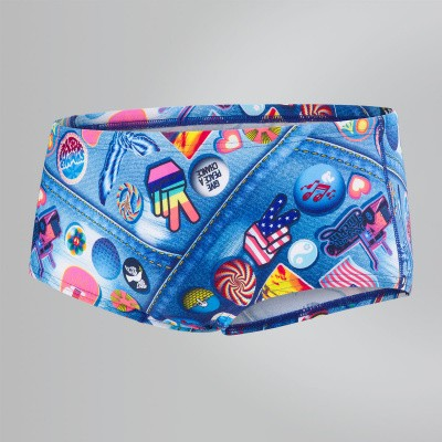 Foto van Speedo heren brief allover blu/red/yel