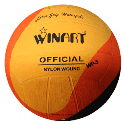 Foto van Winart Waterpolobal SWIRL yellow/orange/black mt.4