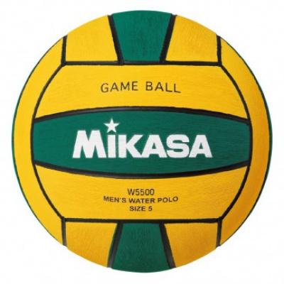 Foto van Mikasa Waterpolobal W5500GRE no. 5 groen/geel
