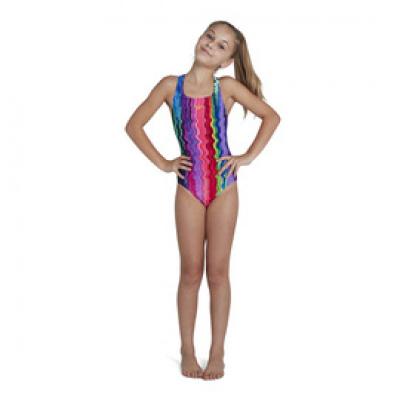 Foto van Speedo meisjes badpak Allover Medalist pink/blue