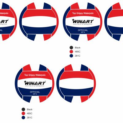 Foto van Winart waterpolobal rood/wit/blauw mt. 4