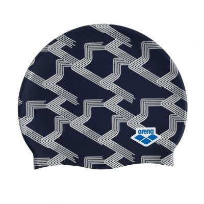 Foto van Arena badmuts Icons Team Stripe assorti blauw print