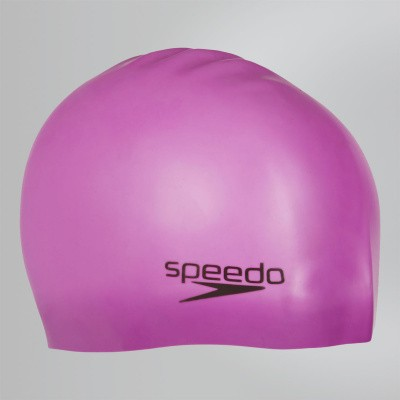 Foto van Speedo Plain Moulded silicone cap roze/paars