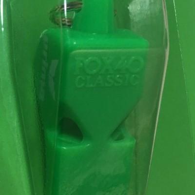 Foto van Erima scheidsrechtersfluit Fox 40 groen