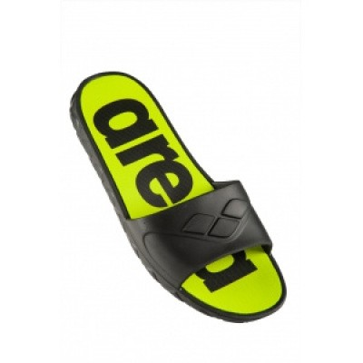 Foto van Arena slipper watergrip man black-lime