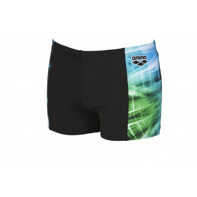 Foto van Arena herenshort Cyber black-sea-blue