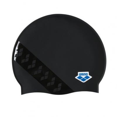 Foto van Arena badmuts Icons Team Stripe assorti grijs zwart