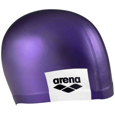 Foto van Arena badmuts logo moulded purple