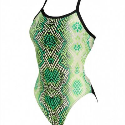 Foto van Arena Damesbadpak Snake Skin golf-green-black