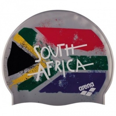 Foto van Arena Siliconen badmuts Print 2 Flag South Africa