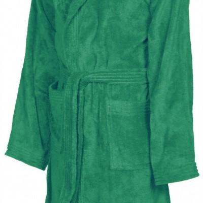 Foto van Arena badjas Core soft robe green-white