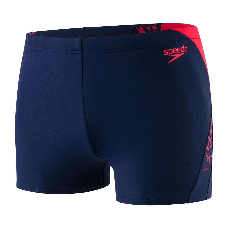 Speedo heren Aquashort Boom Splice navy/red