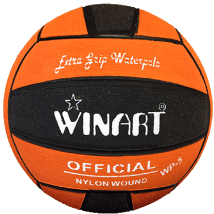 Winart waterpolobal oranje/zwart Mt. 4 en 5