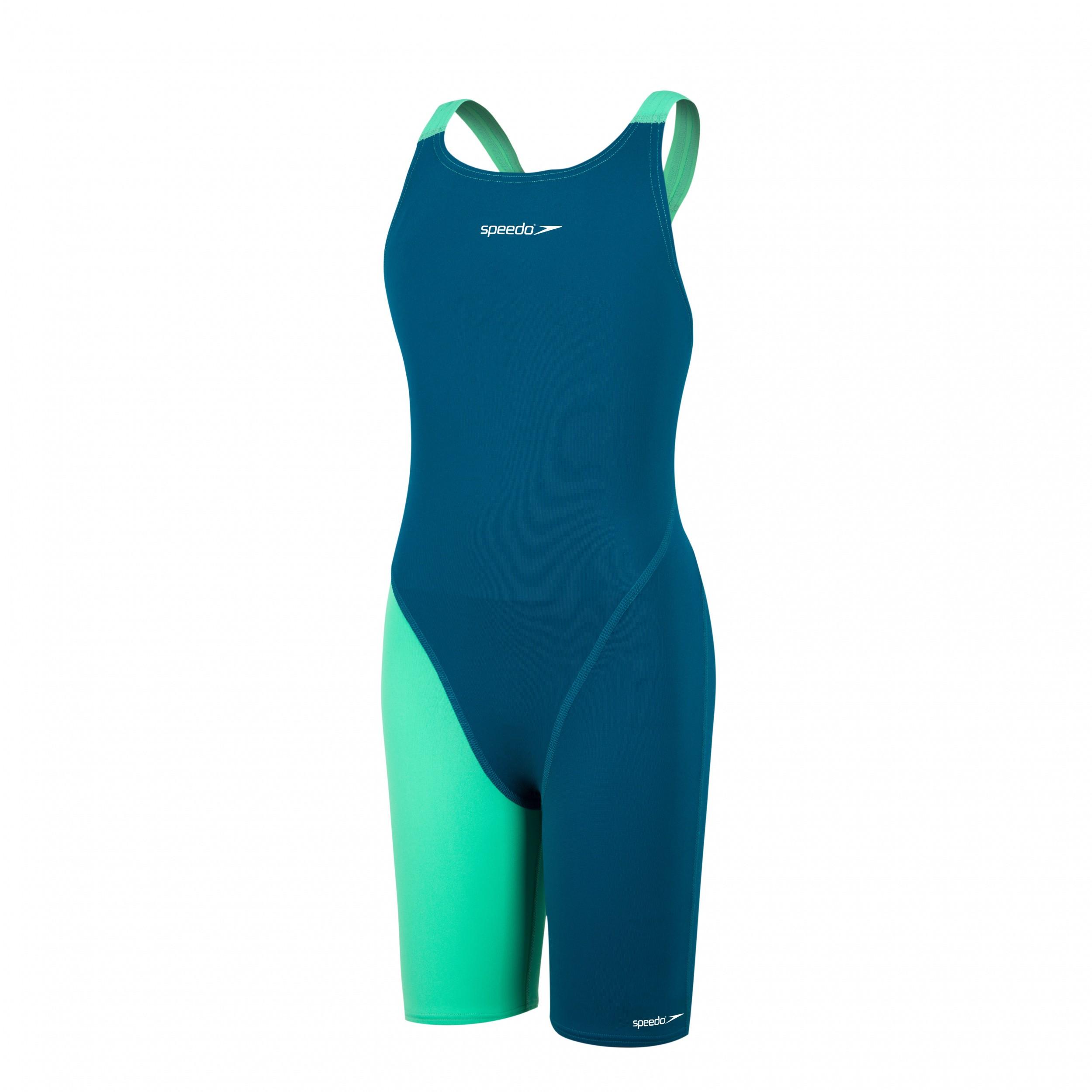 Speedo meisjes wedstrijdbadpak blue/green