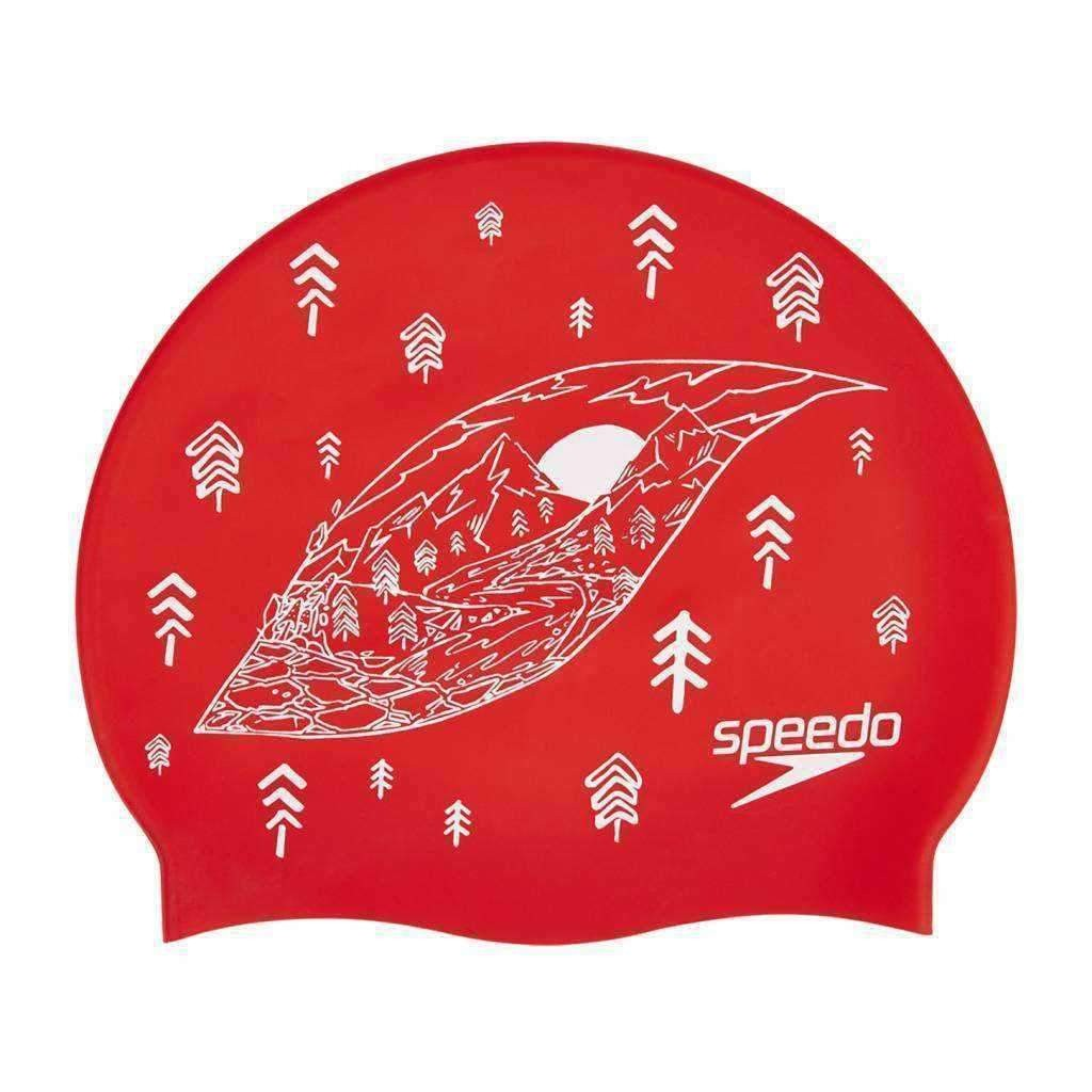 Speedo Siliconen Badmuts Slogan Red