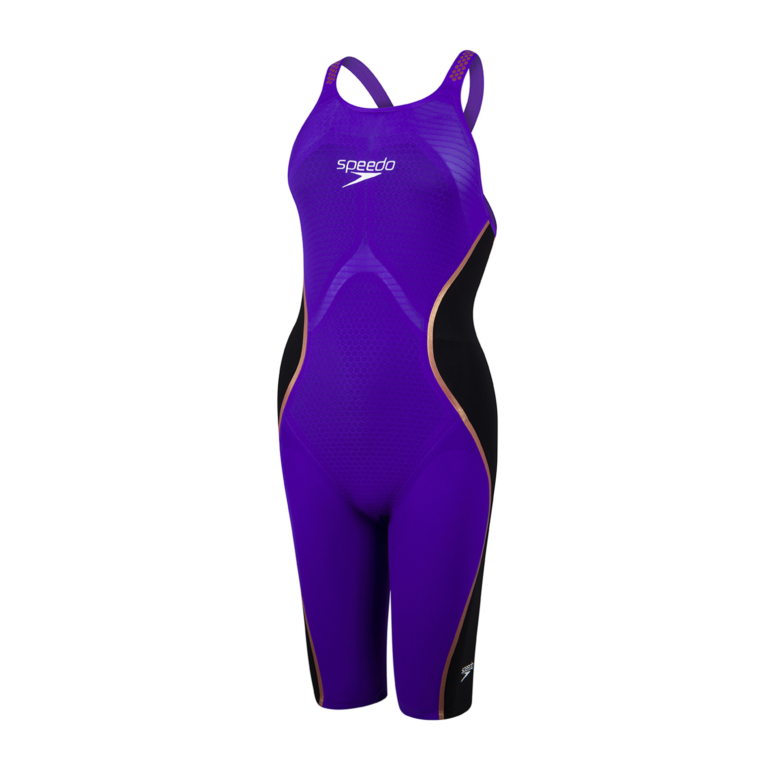 Speedo wedstrijdbadpak Pure Intent OB purple-black