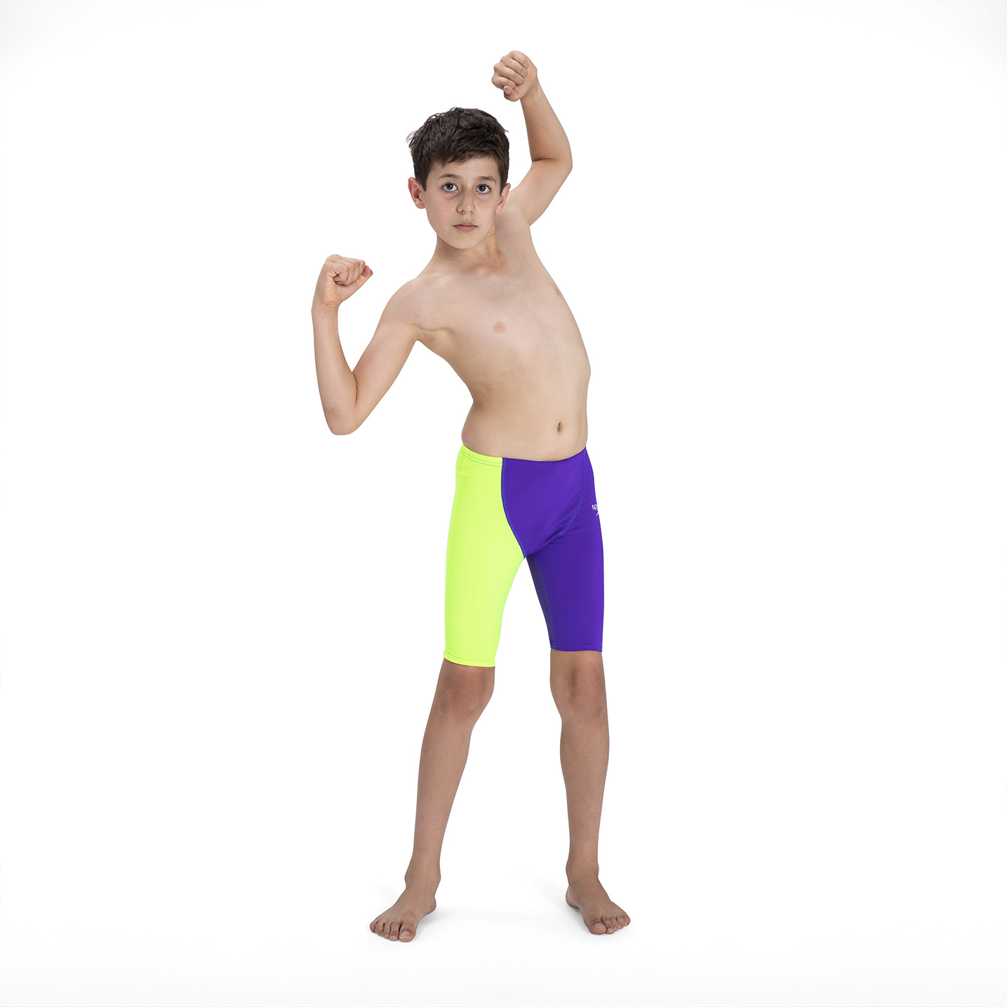 Speedo high waist jammer violet/fluo yellow