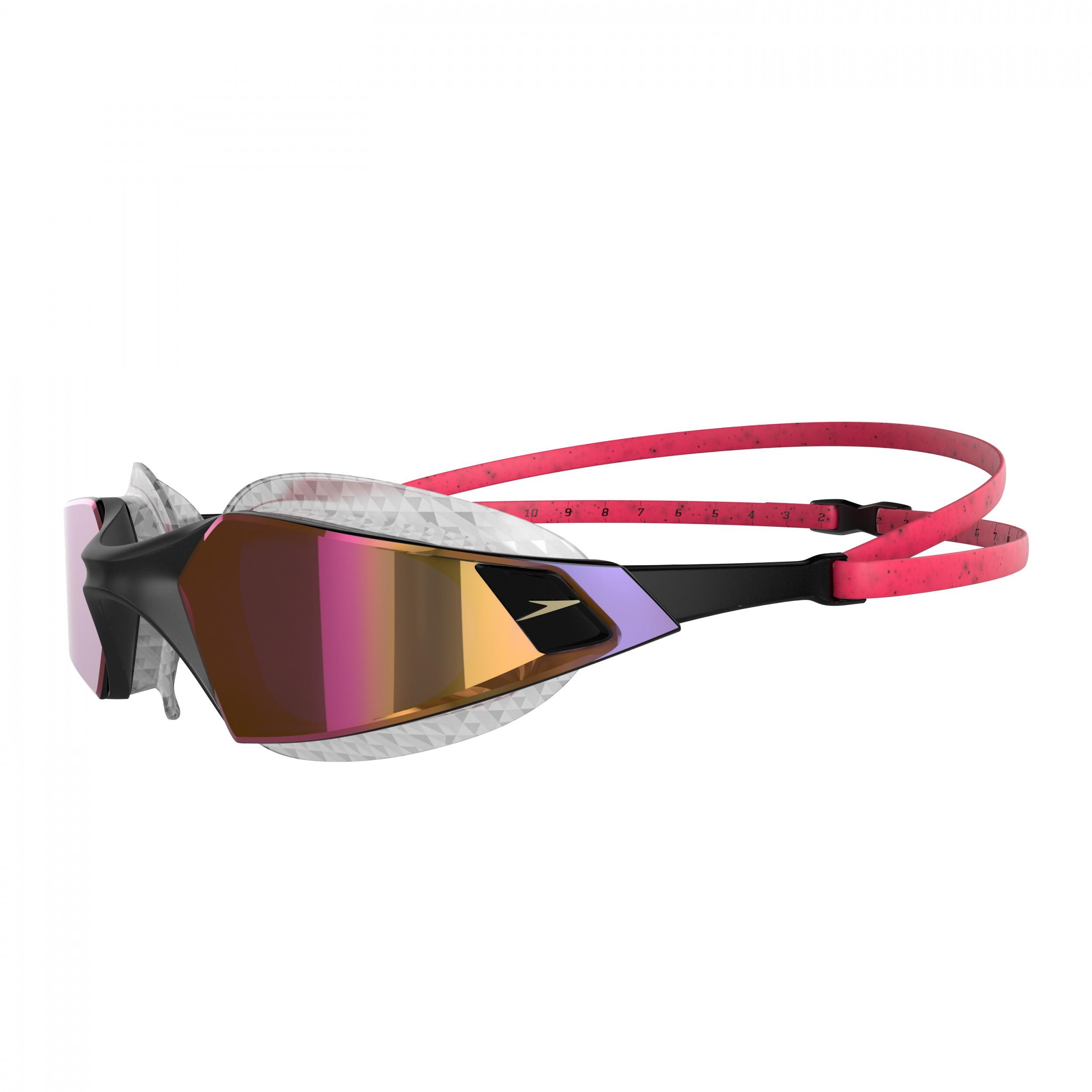 Speedo Zwembril Aquapulse Pro mirror red/gold
