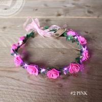 Foto van haarbanden met bloemen en LED