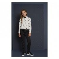 Foto van Looxs witte blouse dots
