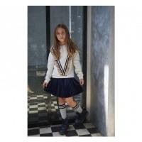 Foto van Looxs Velvet Plisse Skirt