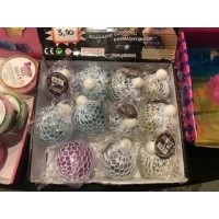 Foto van meshballen met glitter en licht