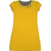 Foto van Waaaw basic dress yellow