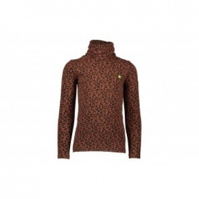 Flo animal jersey rollneck
