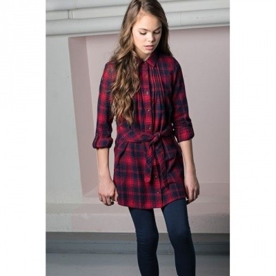 Nobell Muse blouse dress check