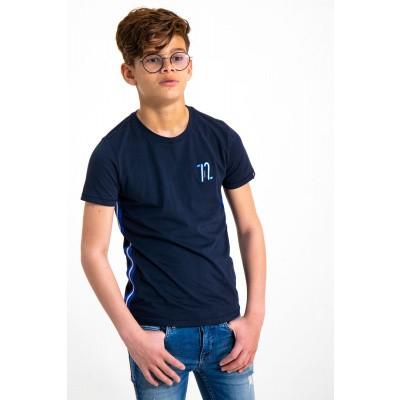 Garcia T-shirt met zijstrepen