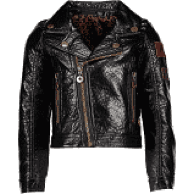 Flo leather biker jacket