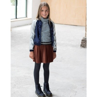 Flo plisse skirt rust