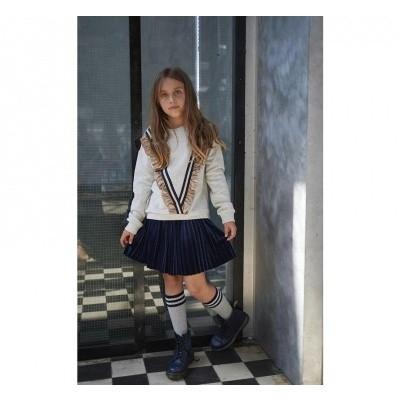 Looxs Velvet Plisse Skirt