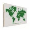 Afbeelding van Wereldkaart Create A Green World - Verticale planken hout 80x60