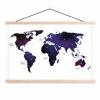 Afbeelding van Wereldkaart Stars And Continents Paarstint - Schoolplaat 90x60