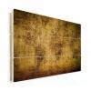 Afbeelding van Wereldkaart Getekend - Verticale planken hout 80x60