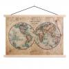 Afbeelding van Wereldkaart The World Perkament - Schoolplaat 90x60