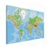 Wereldkaart Aardrijkskundig Origineel