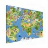 Wereldkaart Prent Dieren En Bezienswaardigheden