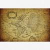 Afbeelding van Wereldkaart Oude Zeekaart - Houten plaat 120x80