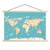 Afbeelding van Wereldkaart Spot Alle Dieren - Schoolplaat 90x60