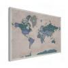 Wereldkaart Aardrijkskundig Groentinten Diagonale Strepen