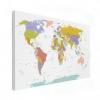 Wereldkaart Alle Landen - Pastel
