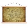 Afbeelding van Wereldkaart Oude Zeekaart - Schoolplaat 90x60